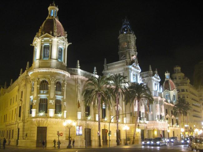 Ayuntamiento Valencia Engalanado Navidad